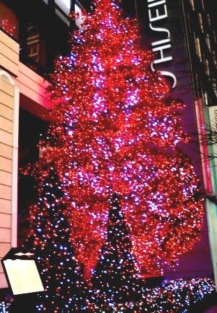 「資生堂本社」前のクリスマス・ツリー☆