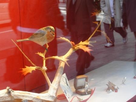 What a pretty Bird in Mikimoto Display!  by Julia